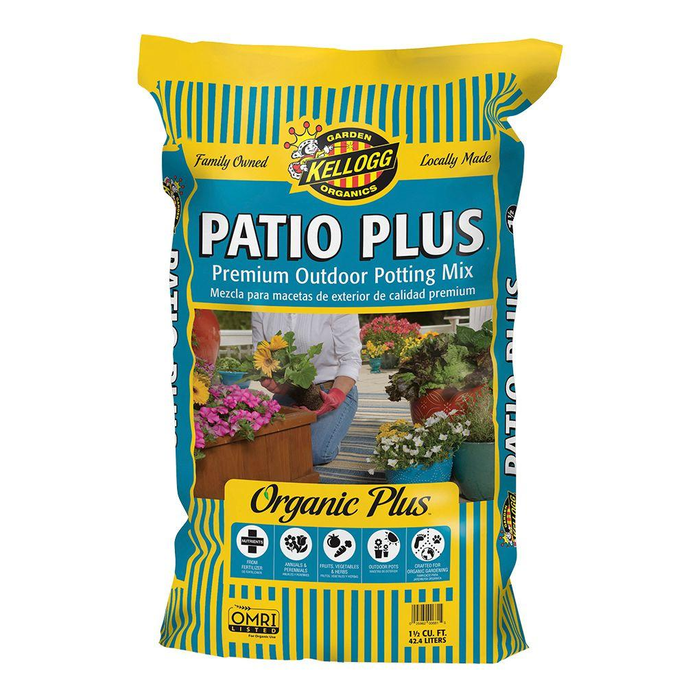 1.5 cu. ft. Patio Plus Premium Outdoor Organic Potting Mix