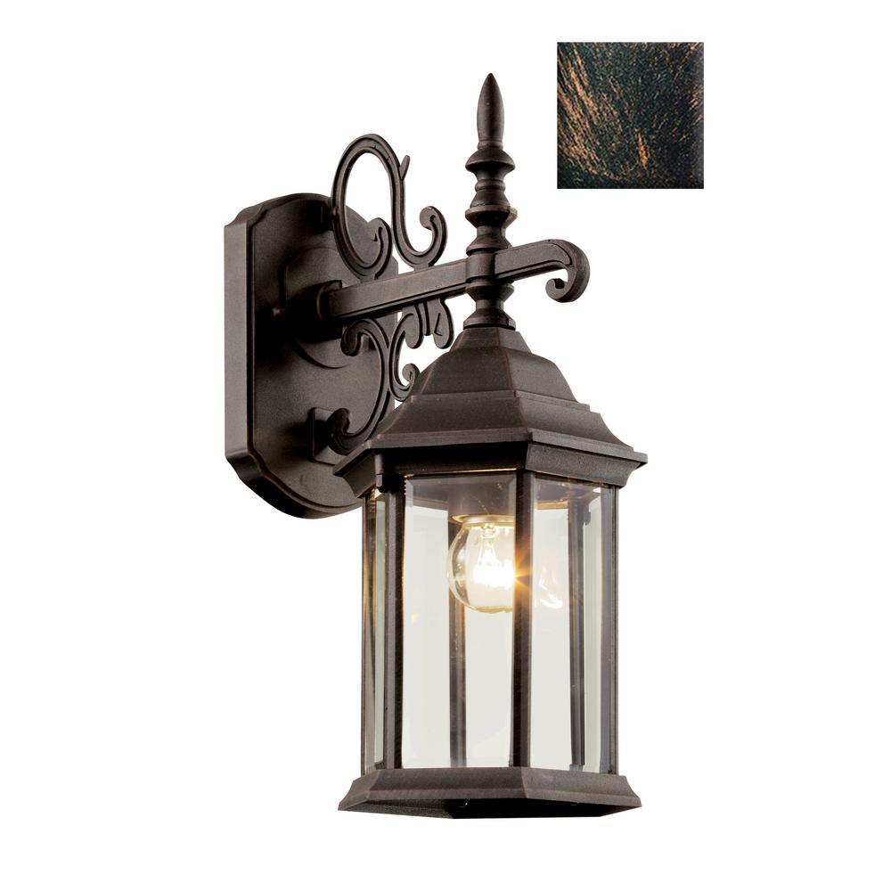 Josephine 1-Light Black Copper Outdoor Wall Mount Lantern