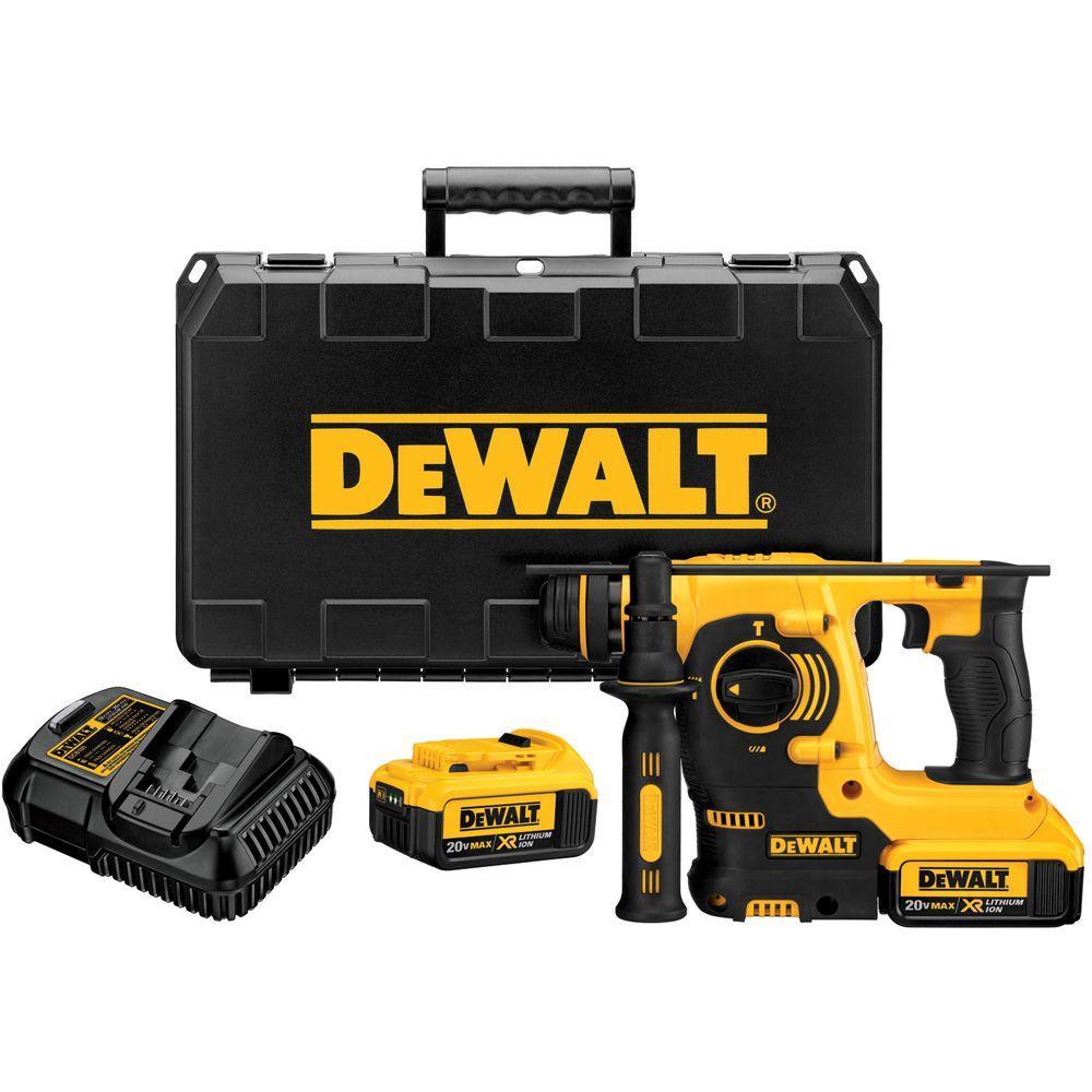 DEWALT 20-Volt Max Lithium-Ion Cordless SDS 3 Mode Rotary Hammer Kit