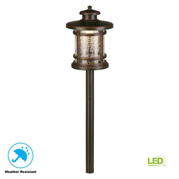Hampton Bay Low-Voltage Oil-Rubbed Bronze Outdoor Integrated LED Path Light
