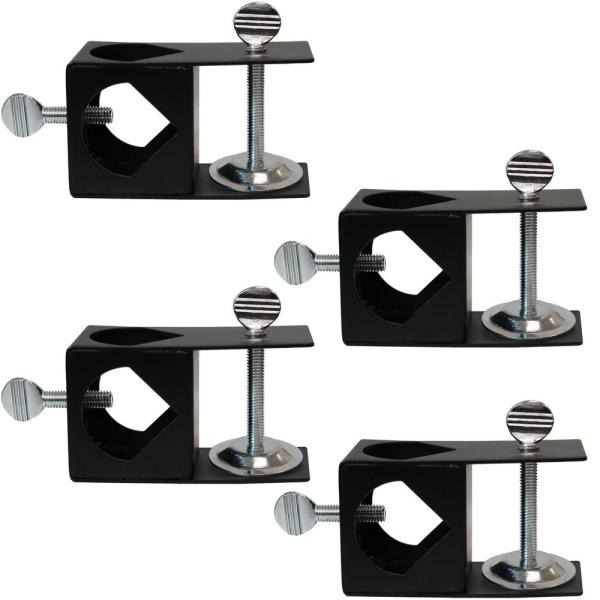 Deck Clamp for Outdoor Torches to Mount to Handrail (4-Pack)