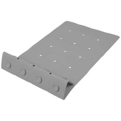 Grey Anti-Slip Folding Tile Rubber Bath Mat