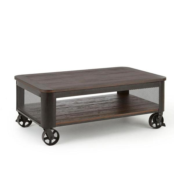 Lift Top Coffee Table.Barrow Brown Lift Top Cocktail Table With Casters
