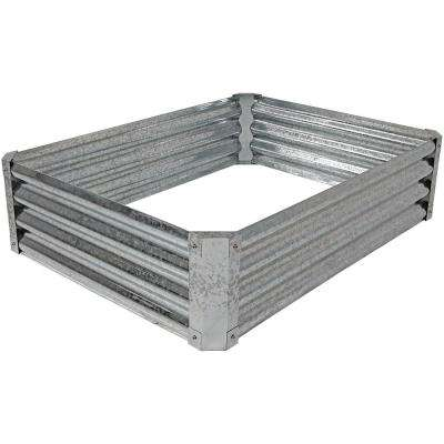 48 in. Rectangle Raised Galvanized Steel Garden Bed