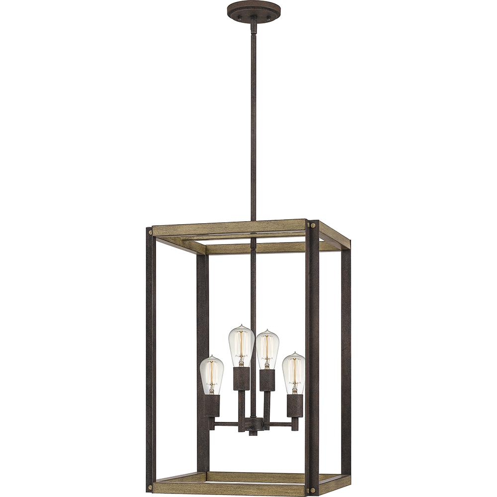 Finn 4-Light Rustic Black Pendant