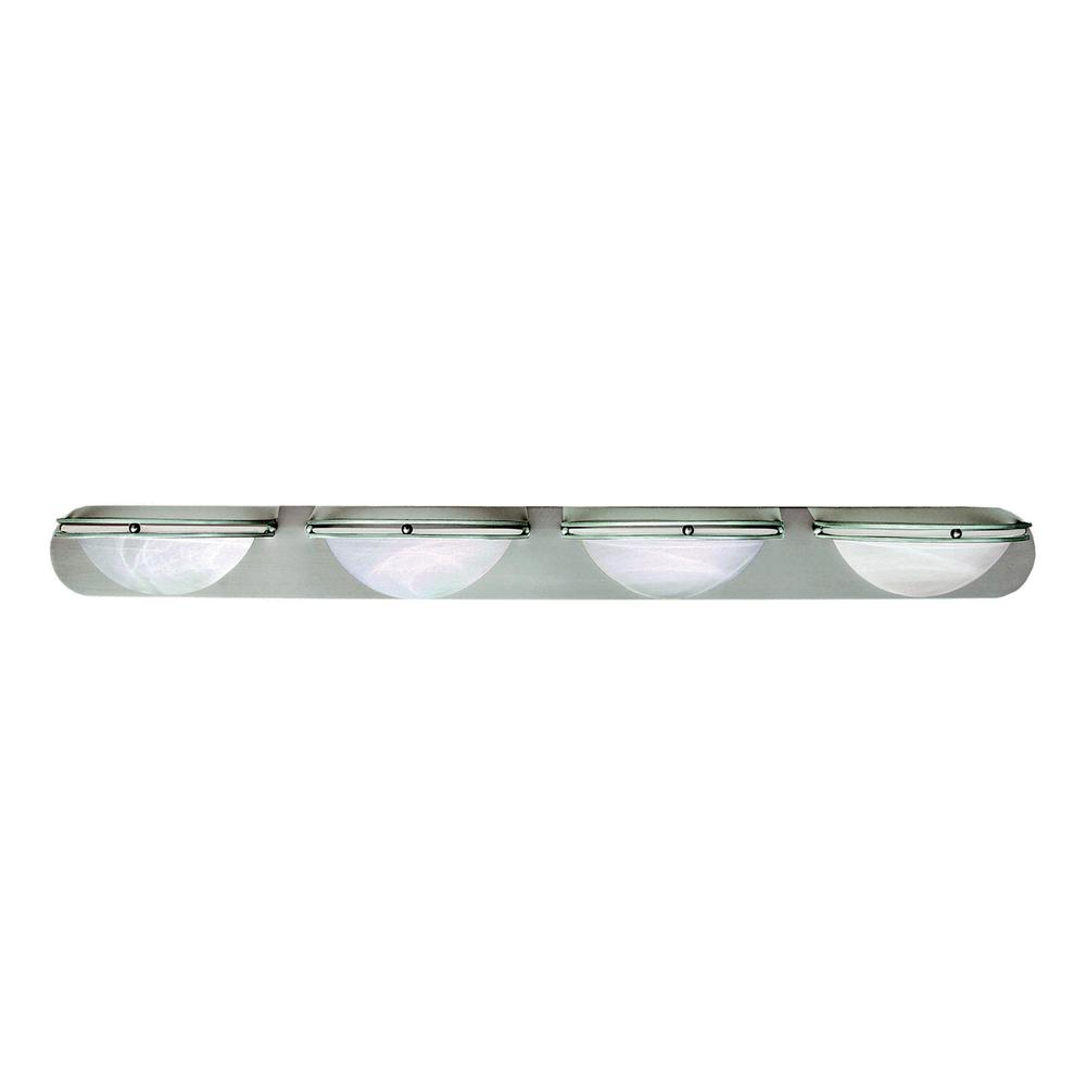 Monument 4-Light Brushed Nickel Bath Light was $112.91 now $64.0 (43.0% off)
