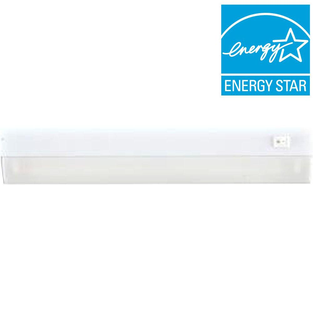 GE 12 in. Direct Wire LED Under Cabinet Light Bar with Hi/Low/Off ...