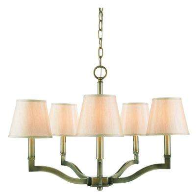 Kiley Collection 5-Light Aged Brass Chandelier