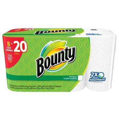 White Paper Towels 2-Ply (8 Huge Rolls)