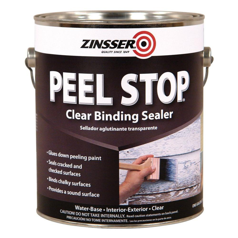 zinsser 1 gal peel stop water base clear interior exterior binding primer and sealer case of 4 On clear exterior