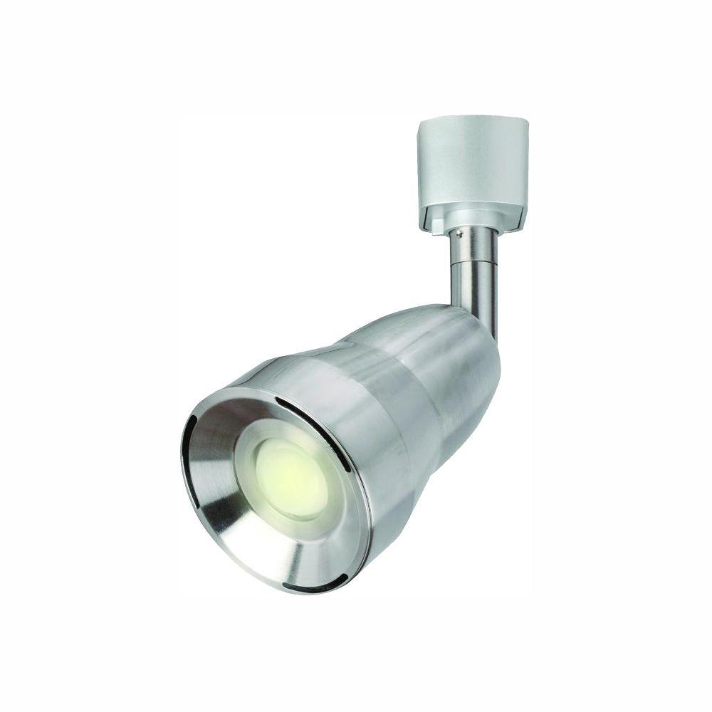 2.8 in. 6-Watt Satin Nickel LED Adjustable Track Lighting Head