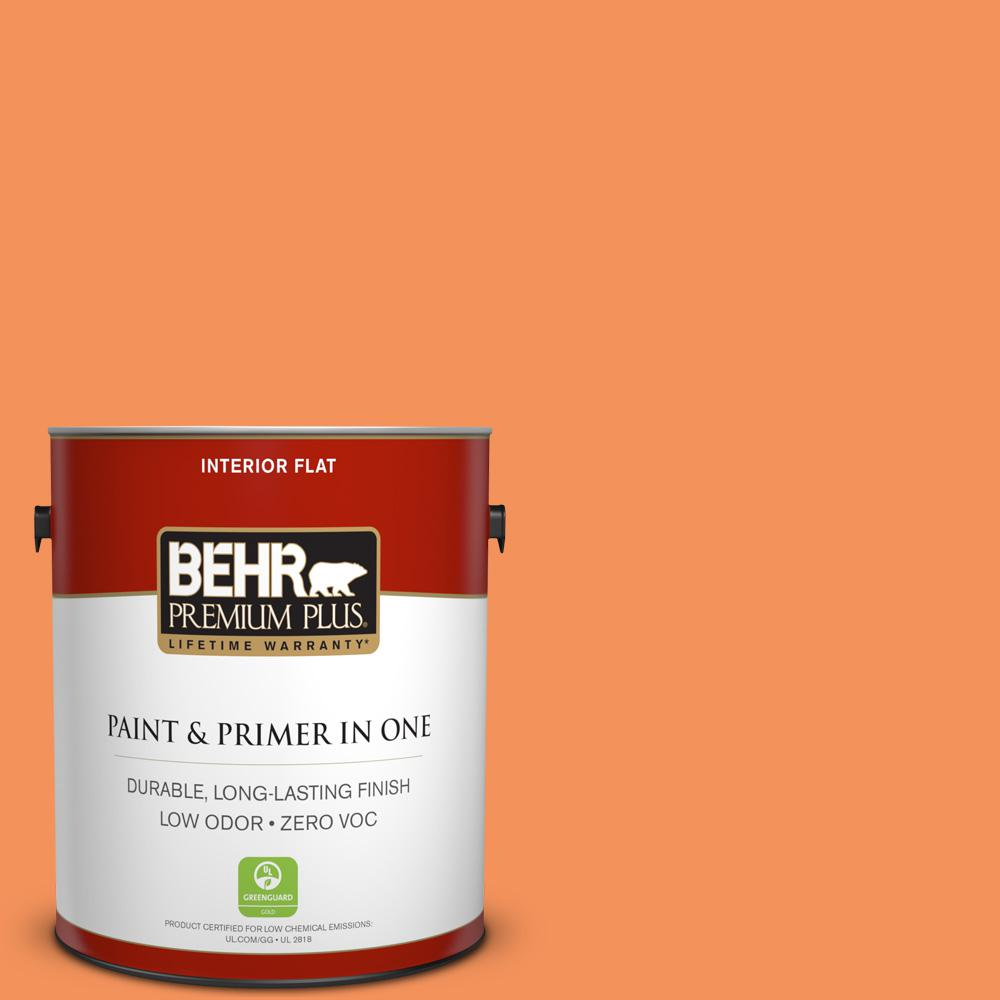 1-gal. #240B-5 Candied Yam Zero VOC Flat Interior Paint