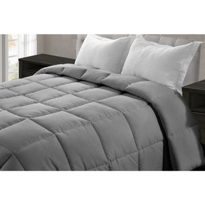 Jill Morgan Dark Gray Microfiber Queen Comforter