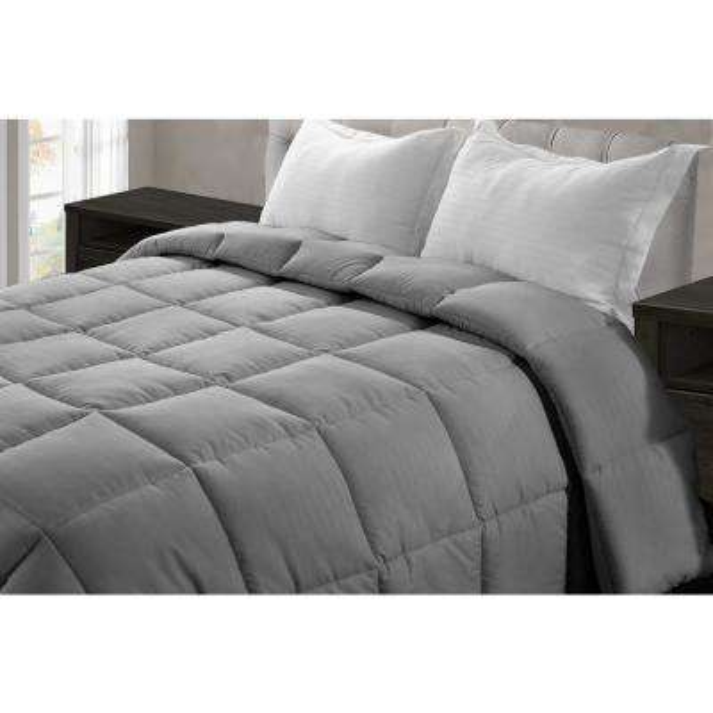 Jill Morgan Dark Gray Microfiber Queen Comforter