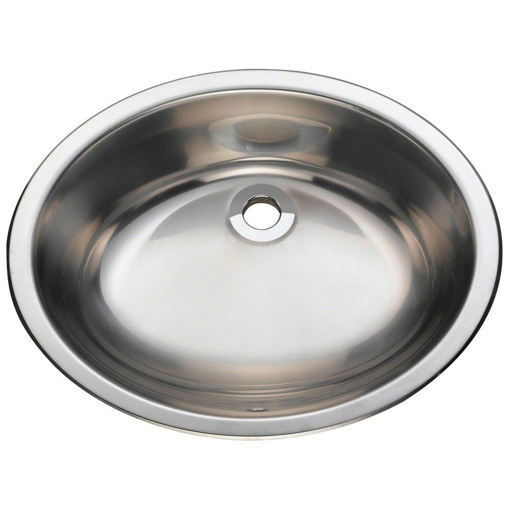 Polaris Sinks Dualmount Bathroom Sink In Stainless Steel