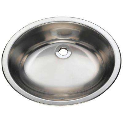 Dualmount Bathroom Sink in Stainless Steel