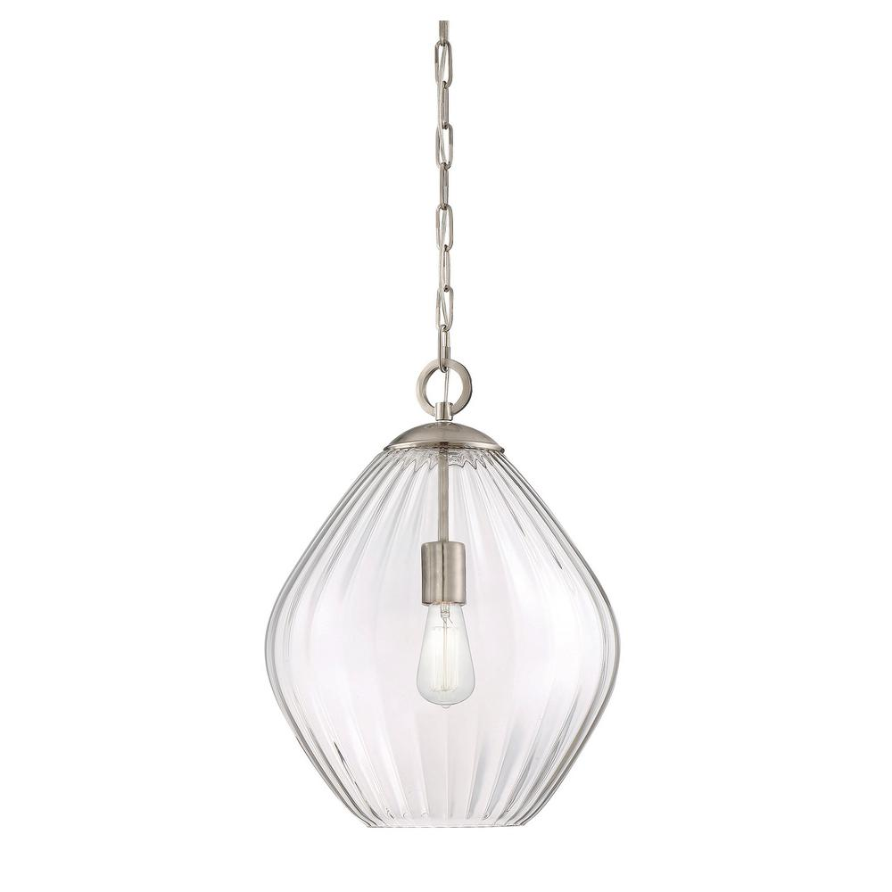 Filament Design 1-Light Satin Nickel Pendant