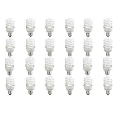 100-Watt Equivalent T2 Spiral CFL Light Bulb Soft White (24-Pack)