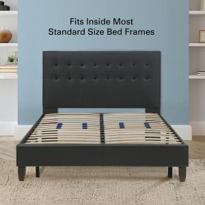Rest Rite Full Metal And Wood Bed Frame Mfprrwspfdb The Home Depot