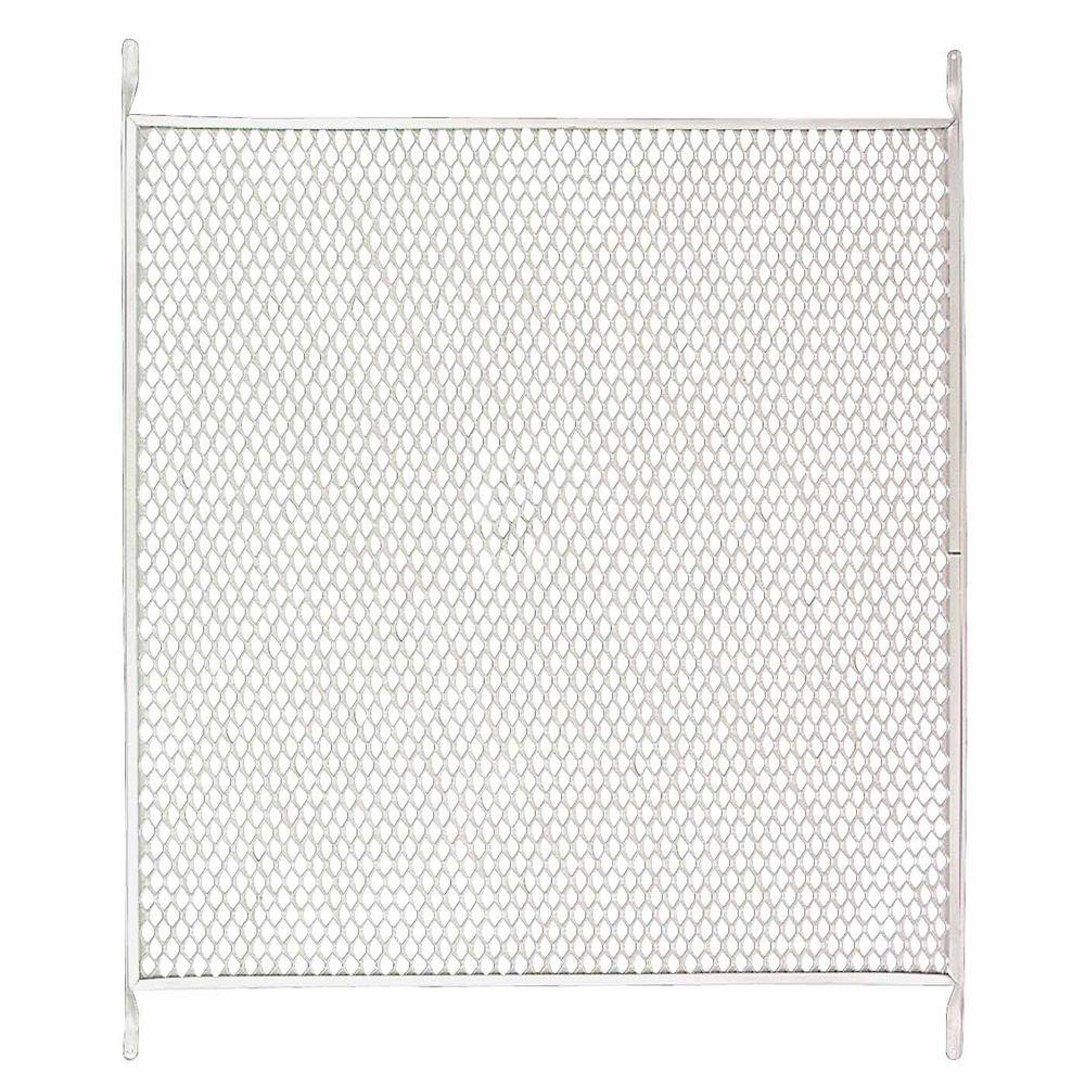 Unique home designs 36 in x 30 in white steel pet grille - 30 x 80 exterior door with pet door ...