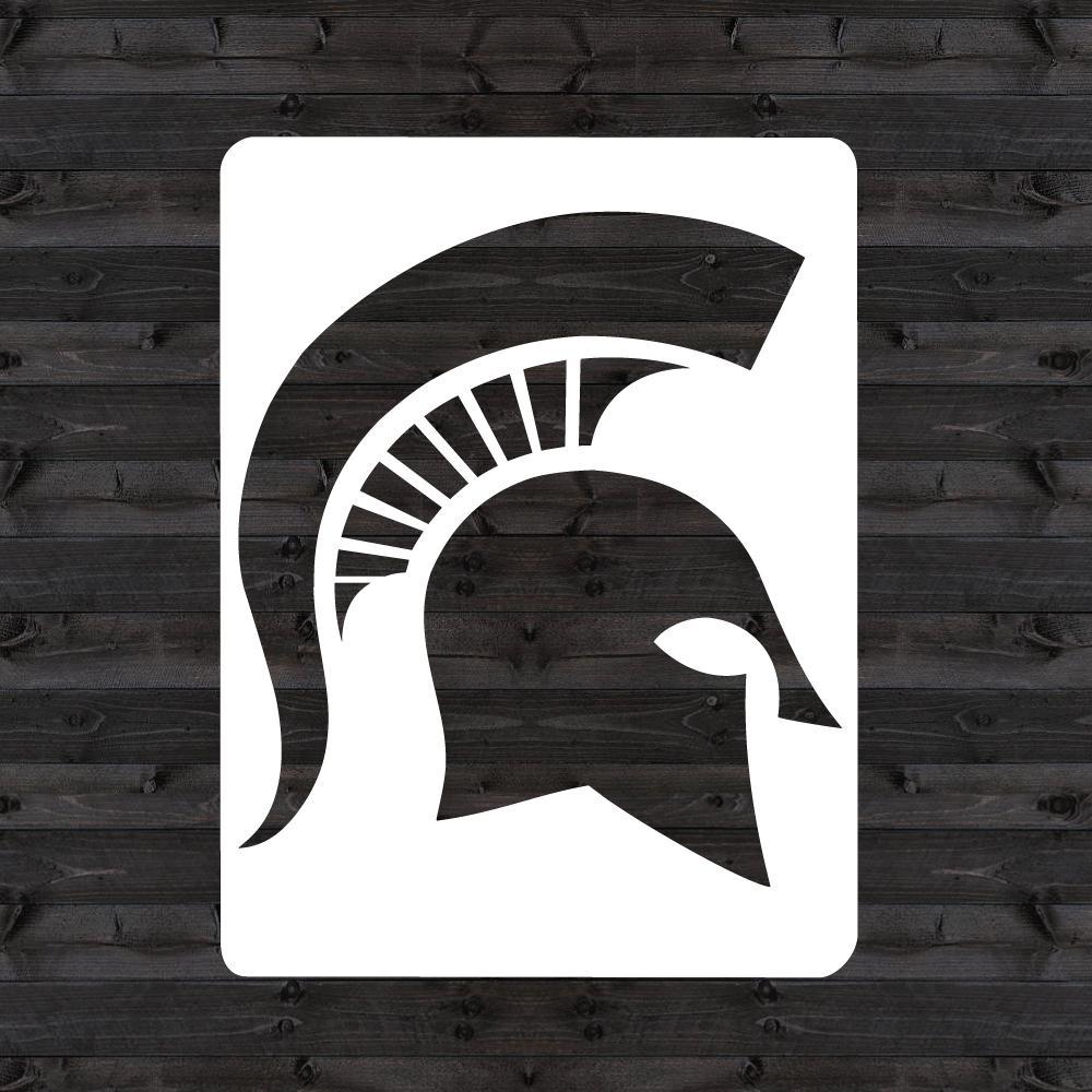U Stencil Michigan State Spartan Helmet Mini Stencil