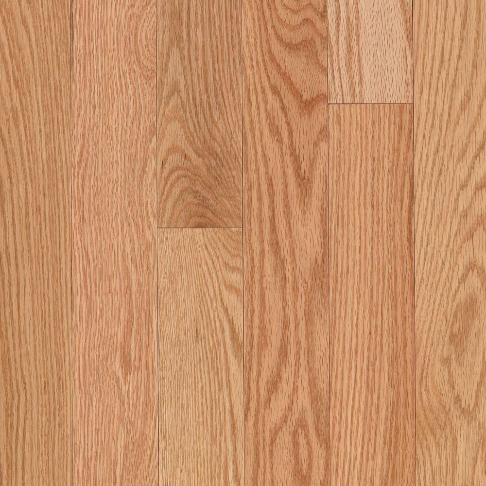 Mohawk Take Home Sample Raymore Red Oak Natural Hardwood Flooring 5 In X