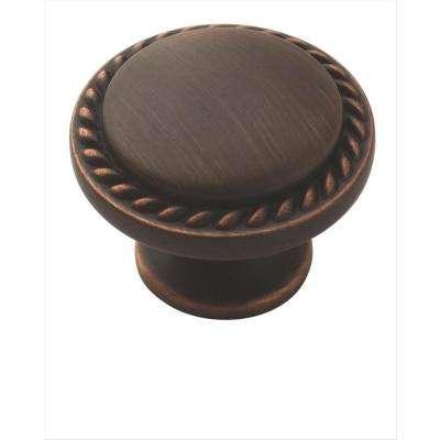 Allison Value 1-3/16 in. (30 mm) Dia Oil Rubbed Bronze Cabinet Knob  (10-Pack)