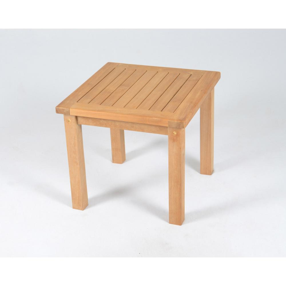 Tortuga Outdoor Jakarta Square Teak Outdoor Side Table Tk S St The