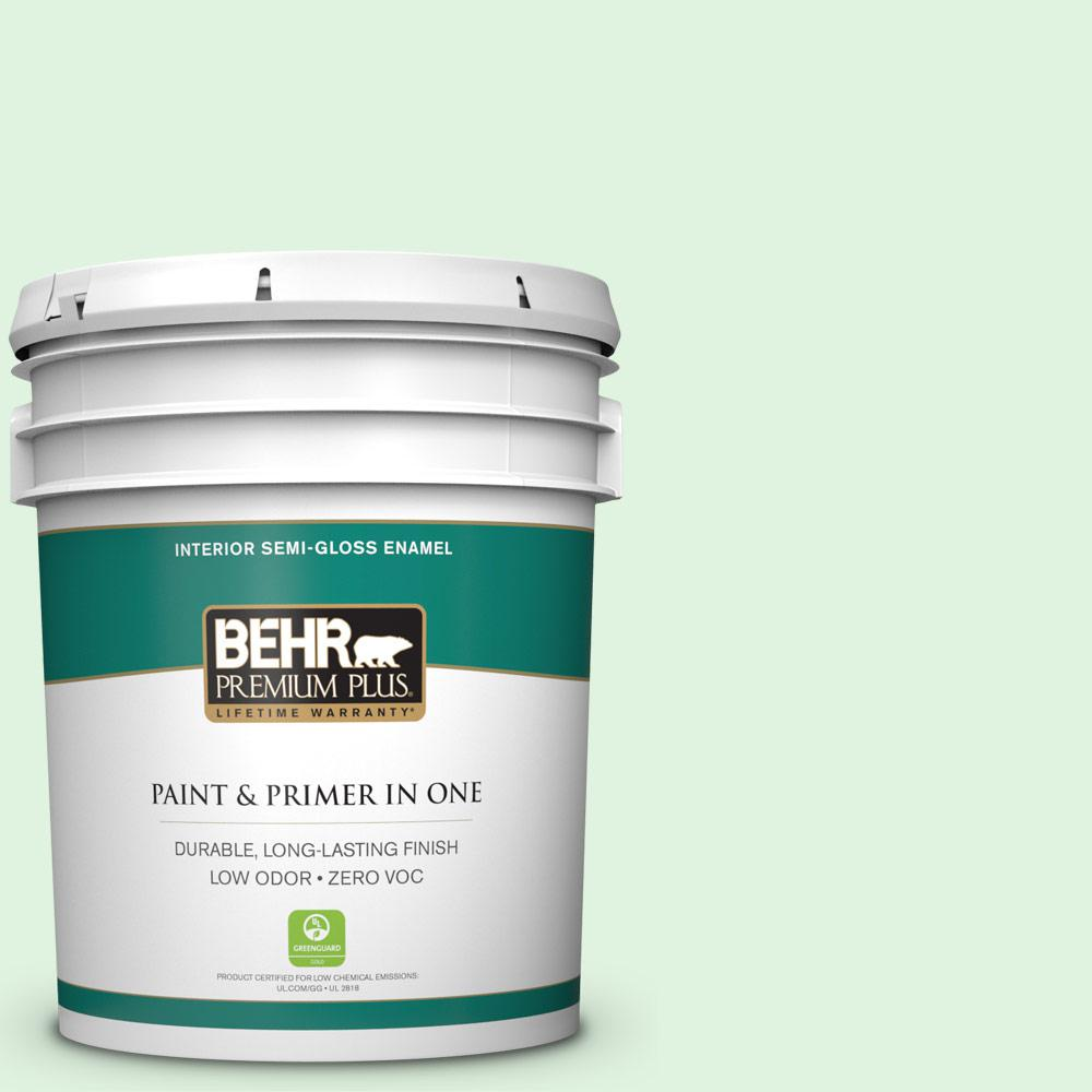 BEHR Premium Plus 5-gal. #P400-1 Mischievous Semi-Gloss Enamel Interior Paint