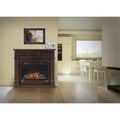 24 in. Bailey Corner Mantel Package Electric Fireplace in Espresso