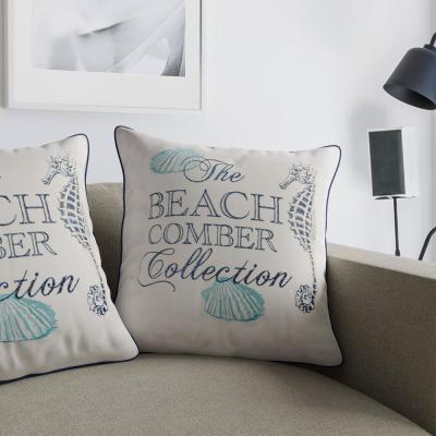 Beach Blue Decorative Pillow (Set of 2)