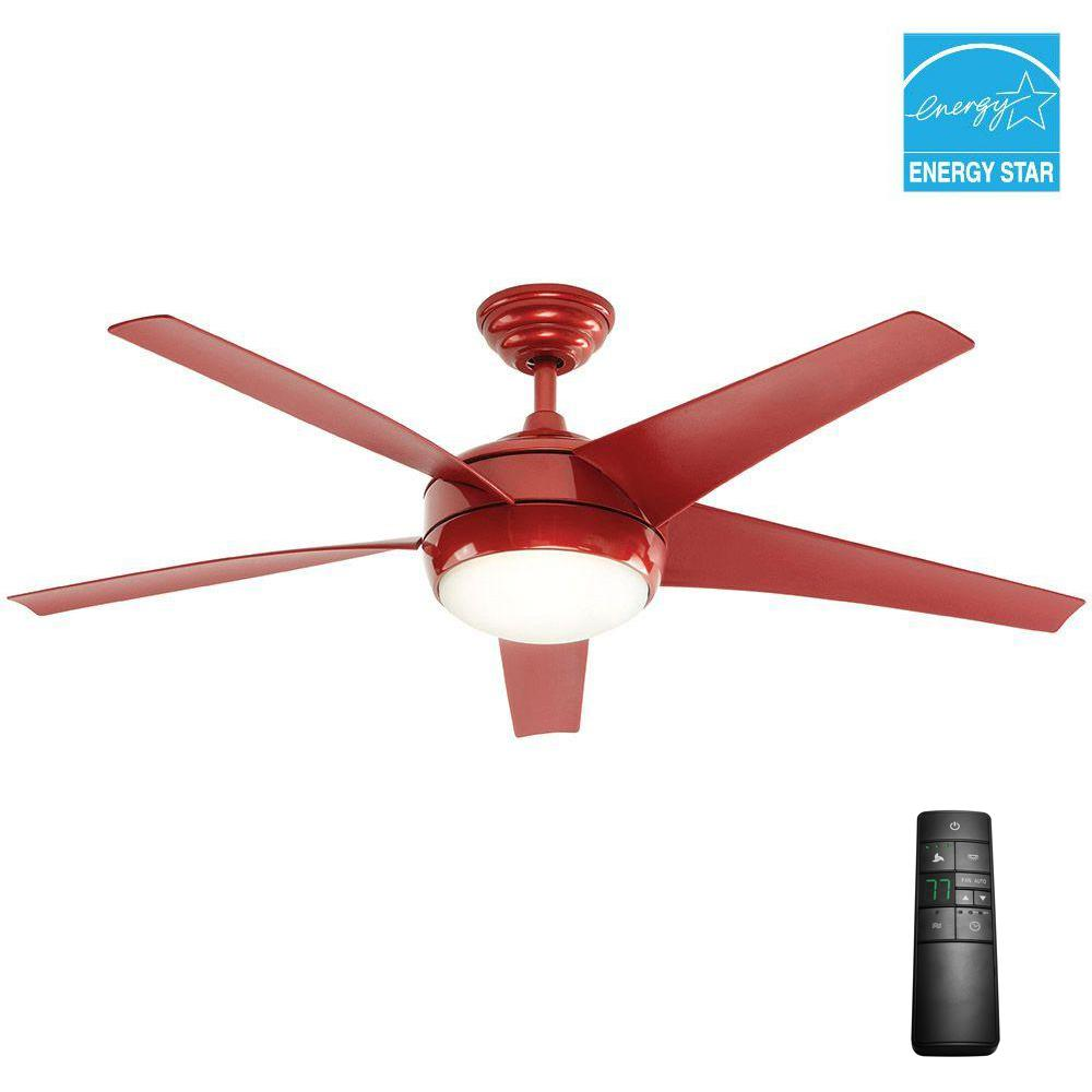 Home decorators collection windward iv 52 in indoor red for Home decorators remote