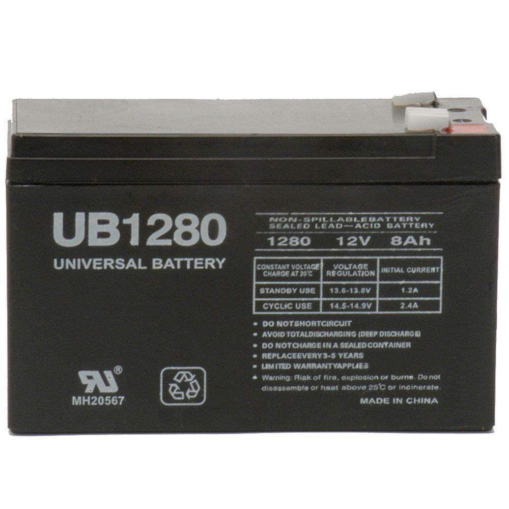 12-Volt 8 Ah F2 Terminal Sealed Lead Acid (SLA) AGM Rechargeable Battery