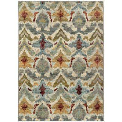 Jules Ivory 7 ft. 10 in. x 10 ft. 10 in. Area Rug