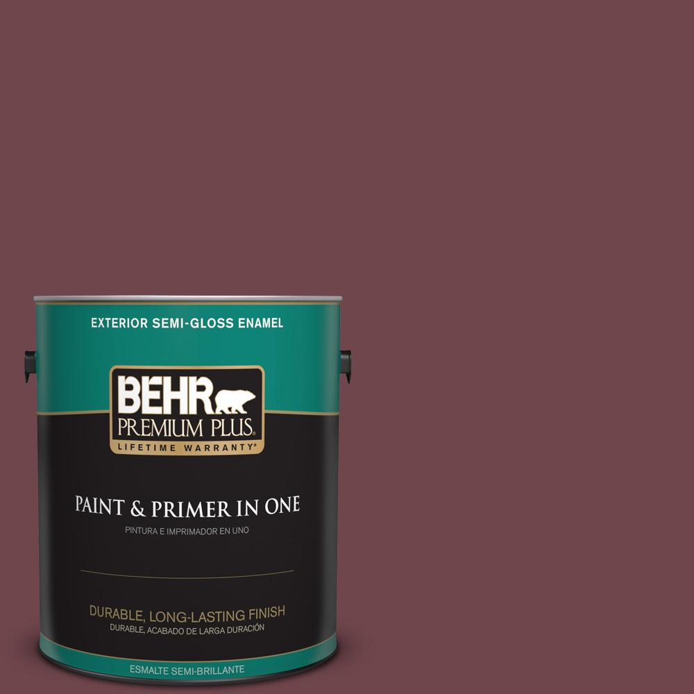 1 gal. #PPU1-14 Formal Maroon Semi-Gloss Enamel Exterior Paint