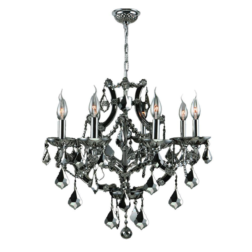 Worldwide lighting lyre 8 light chrome and black crystal chandelier worldwide lighting lyre 8 light chrome and black crystal chandelier mozeypictures Gallery