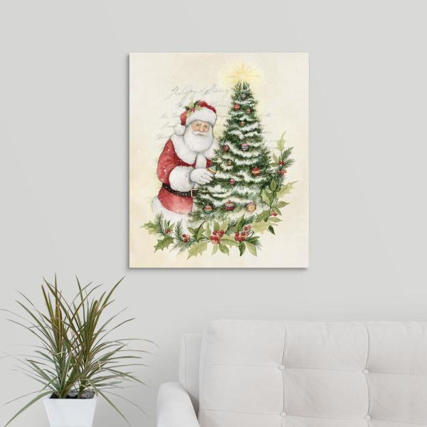 Rosemary Christmas Tree Home Depot.Santa With Christmas Tree By Susan Winget Canvas Wall Art