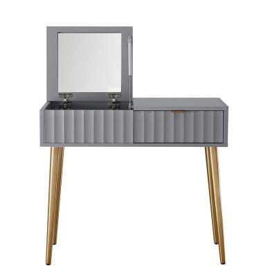 32 in. Gray with Mirror High Gloss Painting Dressing Vanity