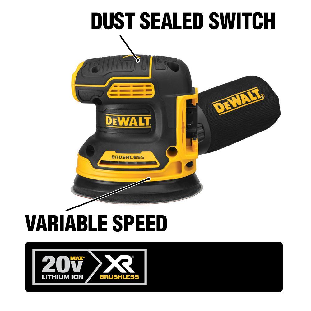 20-Volt MAX Cordless Brushless 5 in. Random Orbital Sander with (1) 20-Volt Compact 3.0Ah Battery