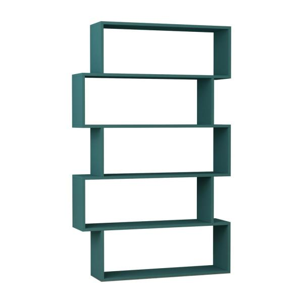 Ada Home Decor Barclay Turquoise Modern Bookcase DCRB2118