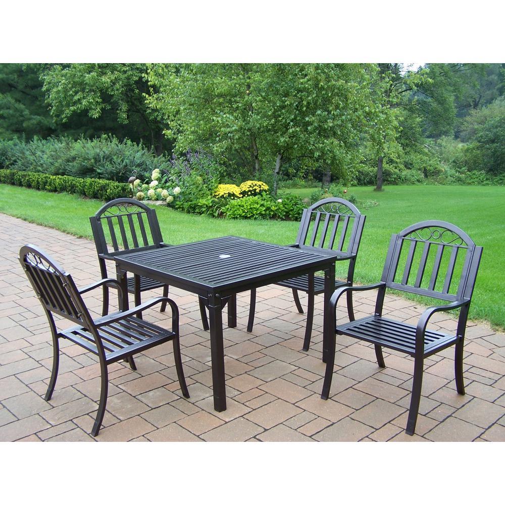 Rochester Hammertone Brown 5-Piece Metal Outdoor Dining Set