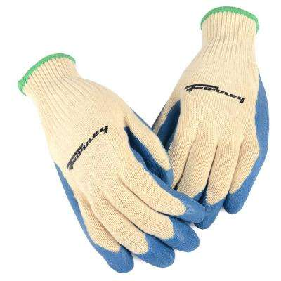 Latex Coated String Knit Gloves (Size L)