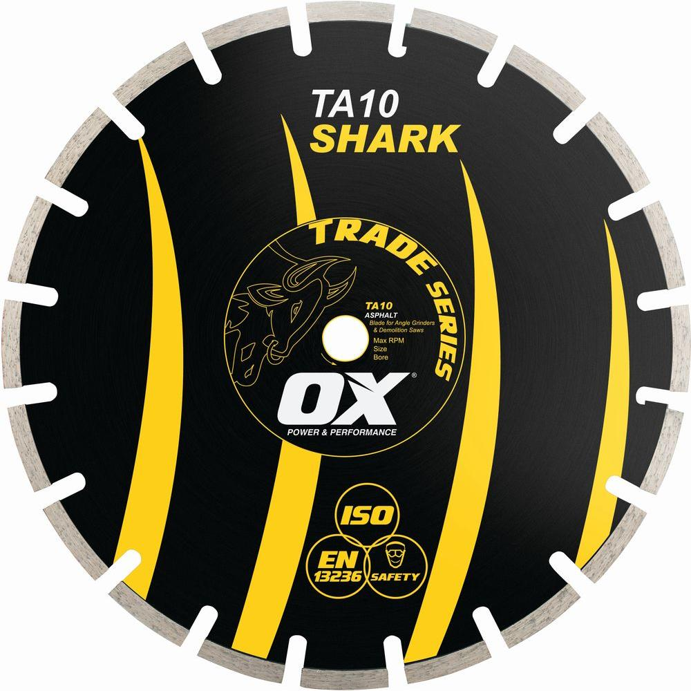 OX Trade Series Asphalt 1 - 20 mm Bore 14 in. Diamond Blade