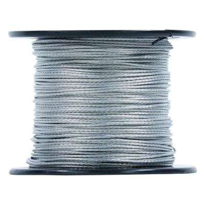 500 ft. Galvanized Steel Guy Wire Stability Cable Spool for Antenna Mast