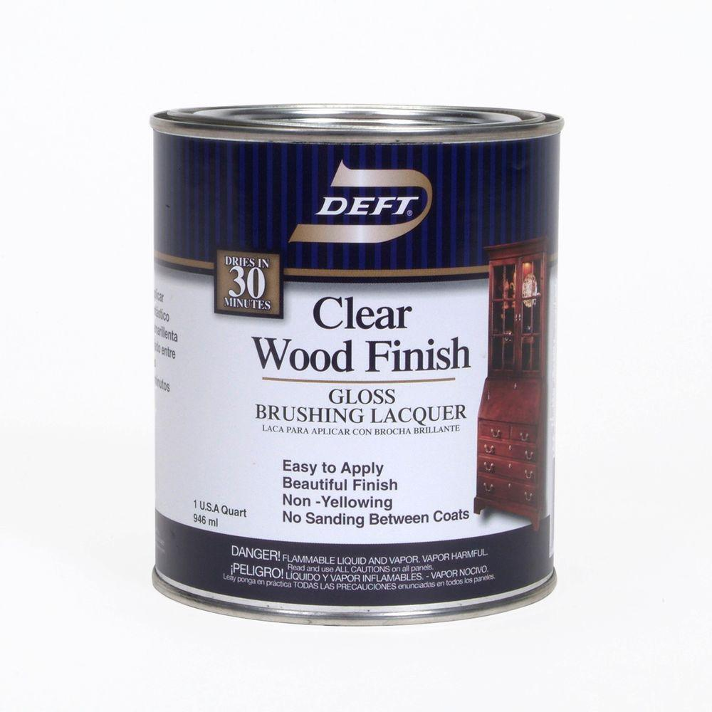 1 qt. Gloss Interior Clear Wood Finish Brushing Lacquer