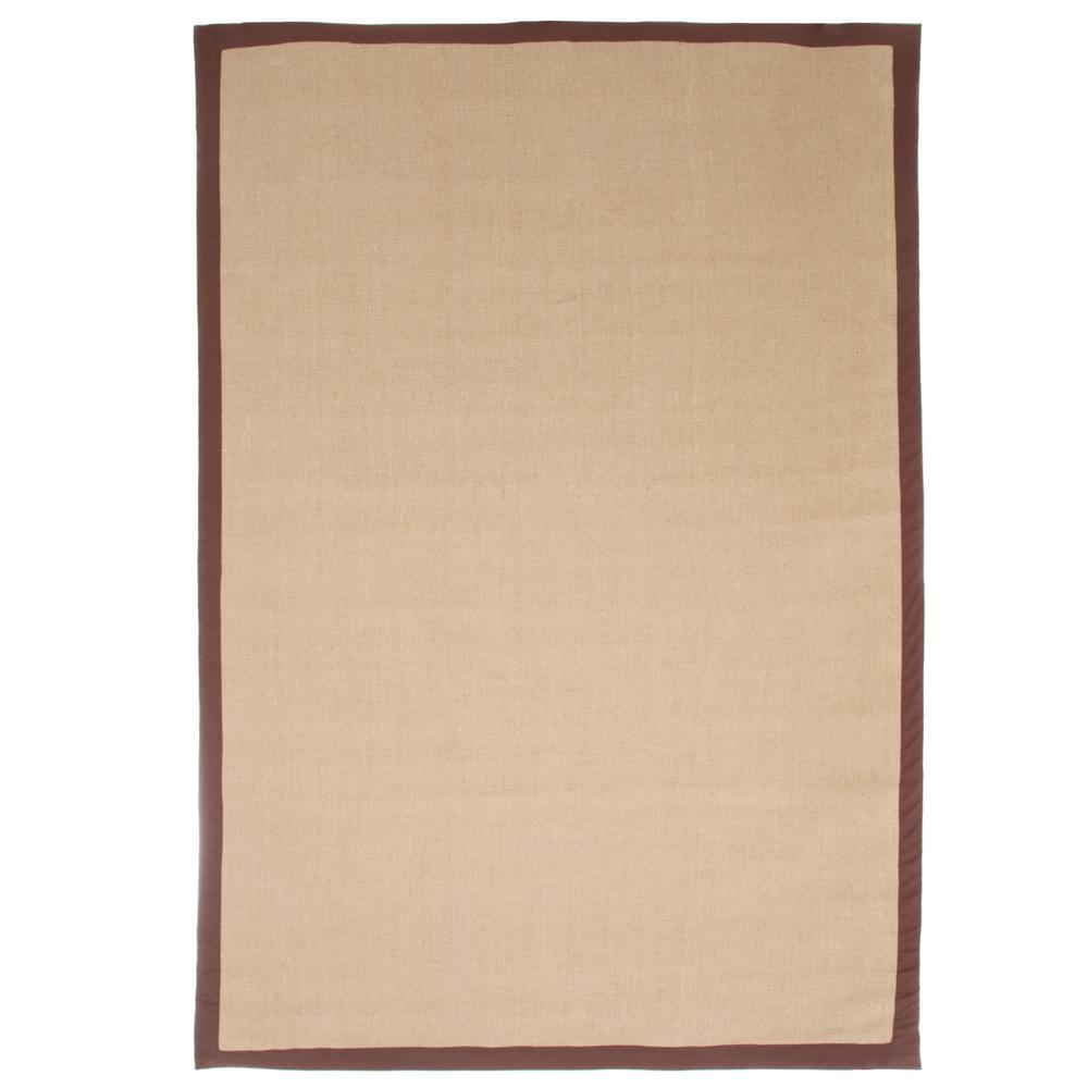 Trademark Jute Chocolate Border 4 Ft X 5 Area Rug 62 J 355 C The Home Depot