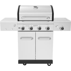 Revelry 4-Burner Propane Gas Grill in Stainless Steel with Side Burner and Smoker Box
