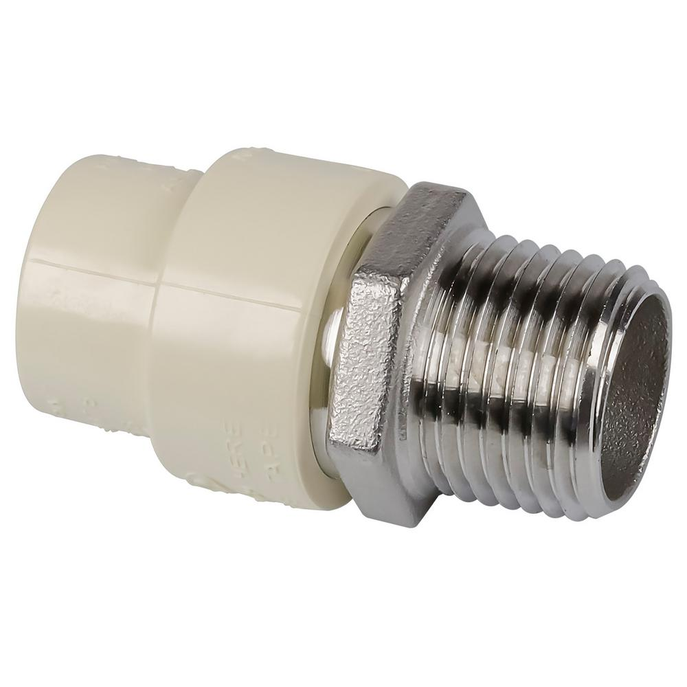Genova products in cpvc mip stainless steel adapter