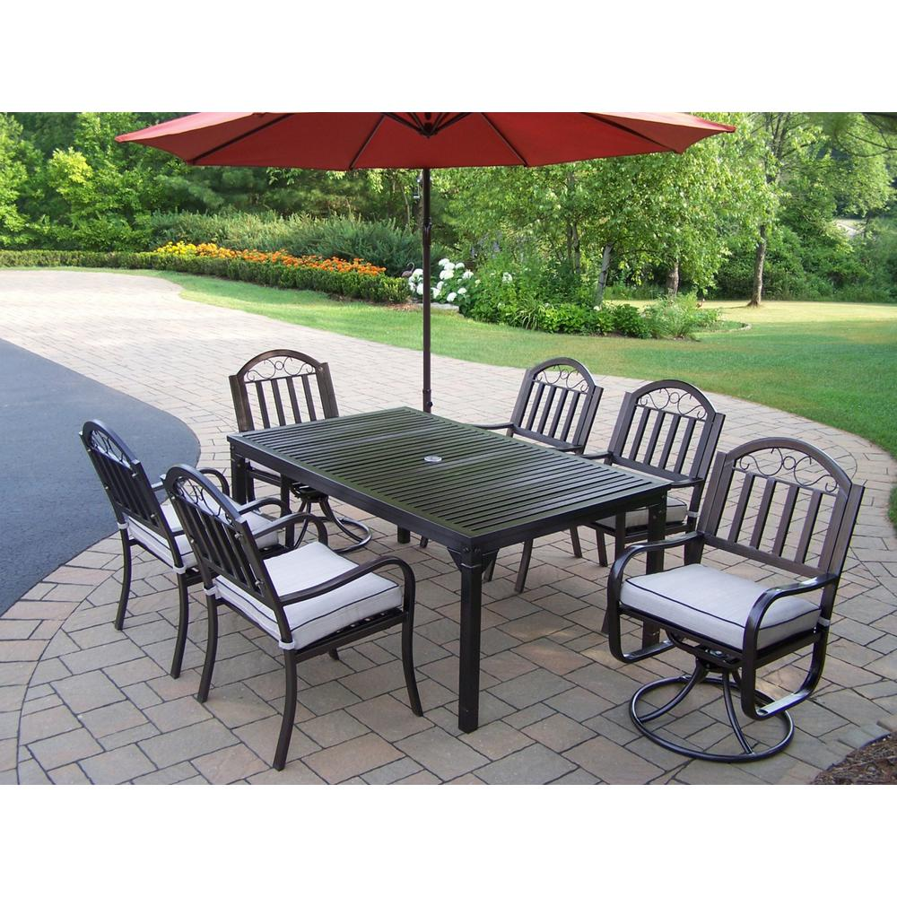 RST Brands Deco 9 Piece Wicker Outdoor Dining Set With