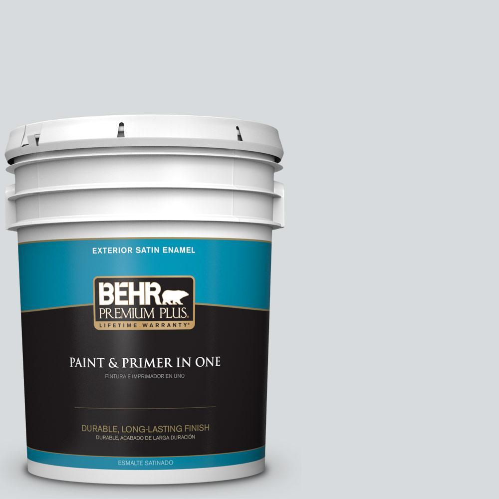 5 gal. #PPU26-14 Drizzle Satin Enamel Exterior Paint